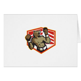 Angry Bear Boxer Boxing Retro Cards