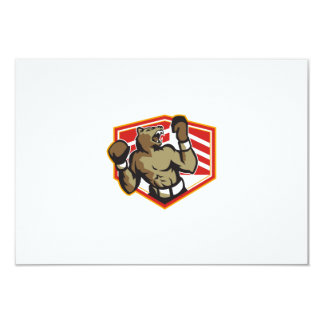 Angry Bear Boxer Boxing Retro Invites