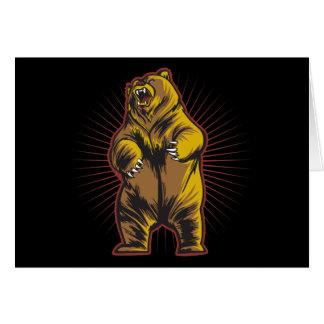 Angry Bear Greeting Card
