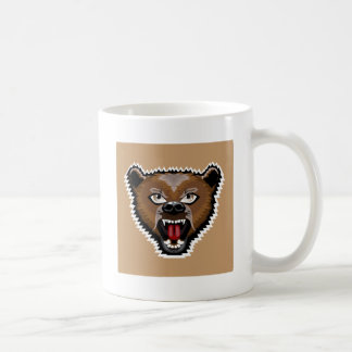 Angry Bear cartoon Basic White Mug