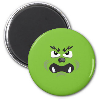 ANGRY BEAR FACE COSTUME 6 CM ROUND MAGNET