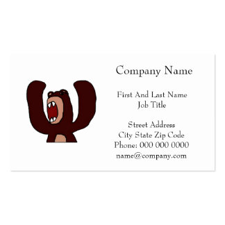 Angry Bear Pack Of Standard Business Cards