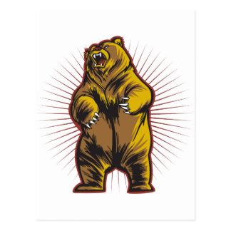 Angry Bear Post Card