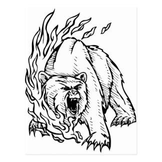 angry bear postcards