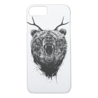 Angry bear with antlers iPhone 7 case