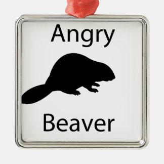 Angry beaver christmas ornament