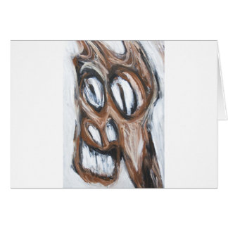 Angry Brown Horse (animal expressionism) Greeting Card