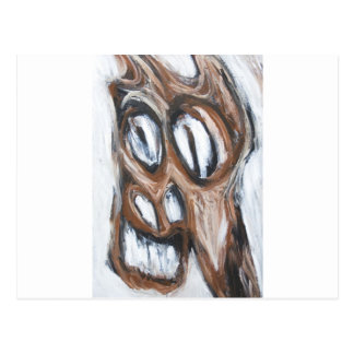 Angry Brown Horse (animal expressionism) Postcard