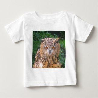Angry Brown Owl Baby T-Shirt