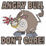 angry bull dont care funny cartoon parody cut outs