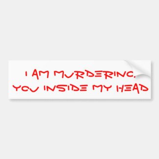 Angry Bumper sticker