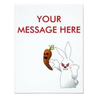 Angry Bunny 11 Cm X 14 Cm Invitation Card