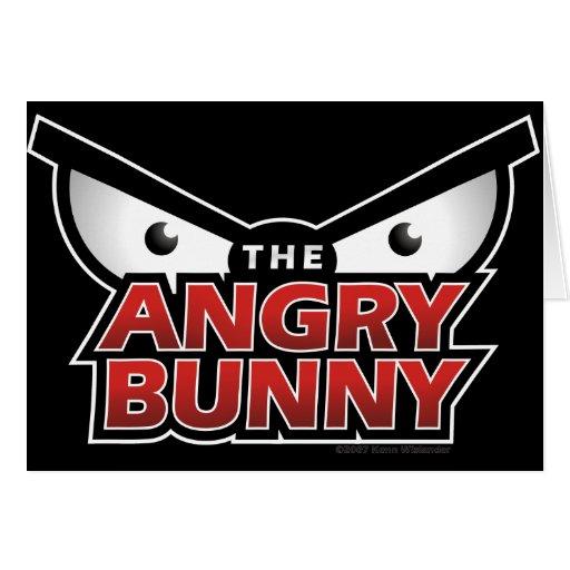 Angry Bunny Abstract Card
