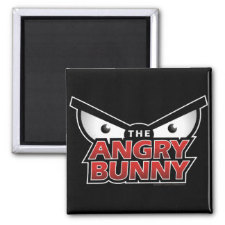 Angry Bunny Abstract Magnet