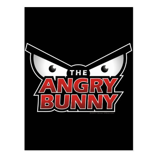 Angry Bunny Abstract Postcards