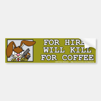 Angry Bunny Bumper Sticker 3