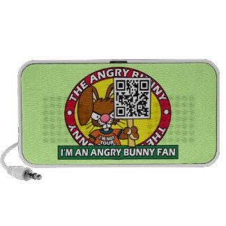 Angry Bunny Fan Laptop Speaker