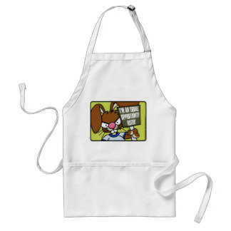 Angry Bunny Hater Apron