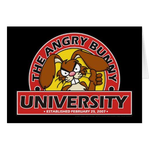 Angry Bunny University Greeting Card