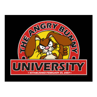 Angry Bunny University Postcards