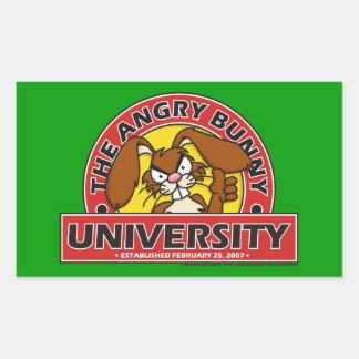 Angry Bunny University Sticker