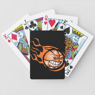 Angry Burning Basketball Bicycle Poker Cards