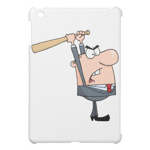 Angry Businessman With Baseball Bat iPad Mini Cover