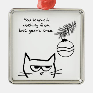Angry Cat and the Christmas Tree. Christmas Ornament