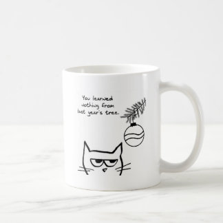 Angry Cat and the Christmas Tree. Coffee Mug
