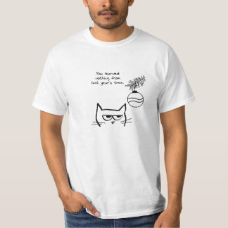 Angry Cat and the Christmas Tree. T-Shirt