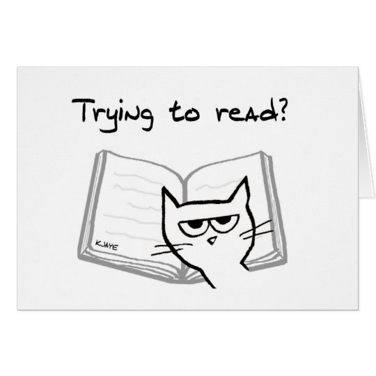 Angry Cat Challenges Book Lovers Card
