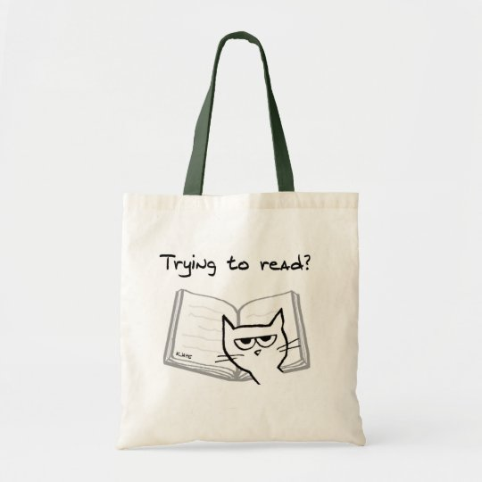 Angry Cat Challenges Book Lovers Tote Bag