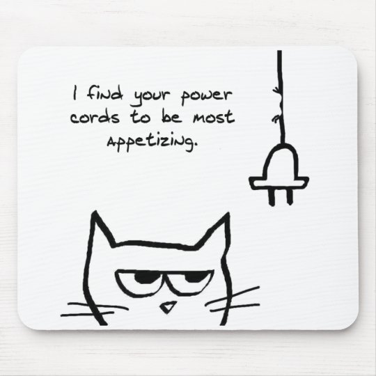 Angry Cat Chews up your Power Cords Mouse