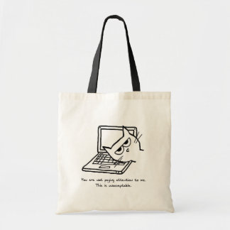 Angry Cat Demands Attention Tote Bags