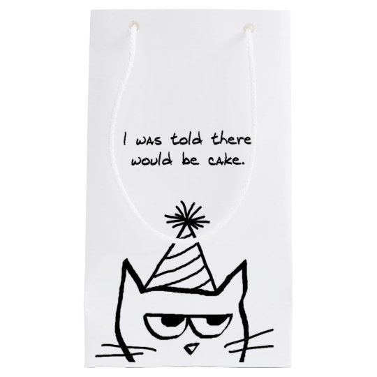 Angry Cat Demands Cake - Funny Cat Gift