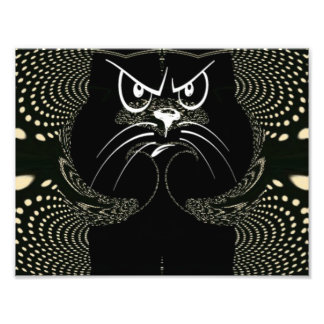 Angry Cat Digital Print