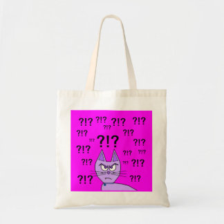 Angry Cat Does Not Care!!! Budget Tote Bag