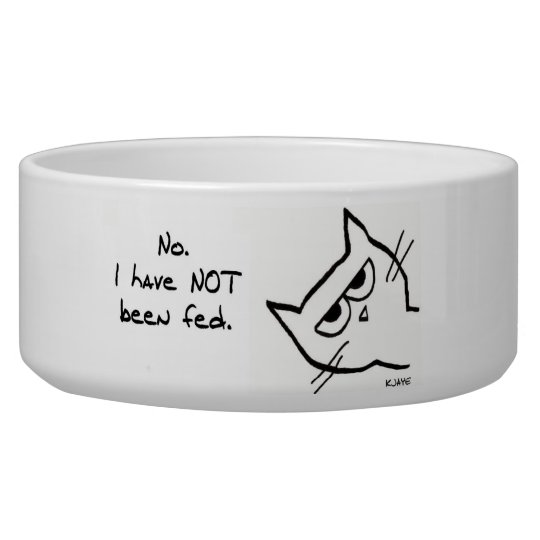 Angry Cat has NOT been fed!