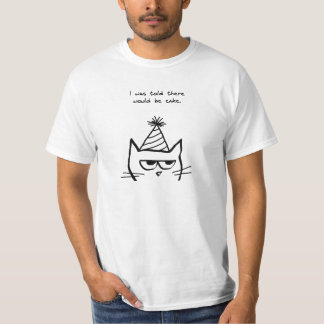 Angry Cat Hates Birthdays T-Shirt