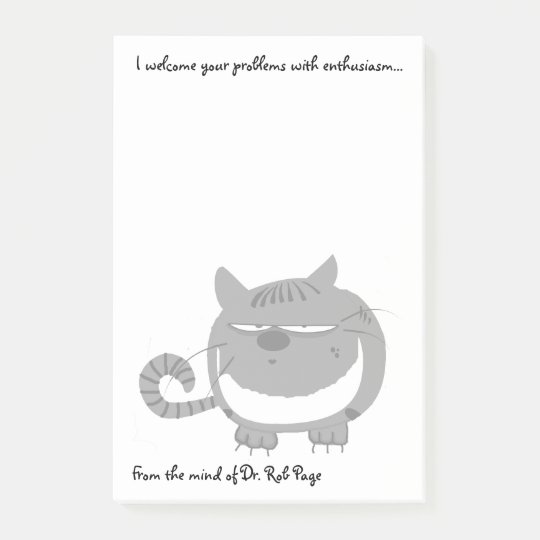 """Angry Cat """"I Welcome Your Problems"""" Funny Custom"""