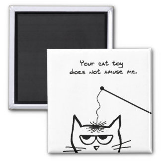 Angry Cat is not amused Fridge Magnets