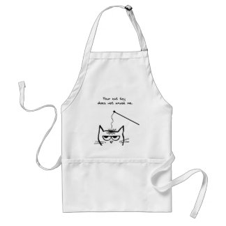 Angry Cat is not amused Standard Apron