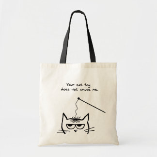 Angry Cat is not amused Tote Bag