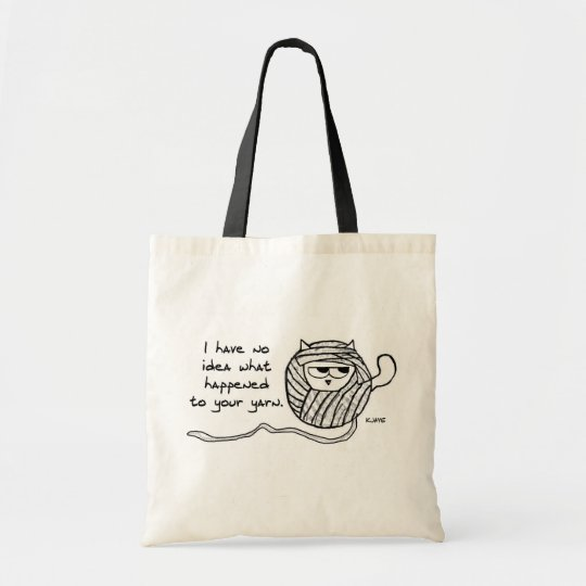 Angry Cat Likes Yarn