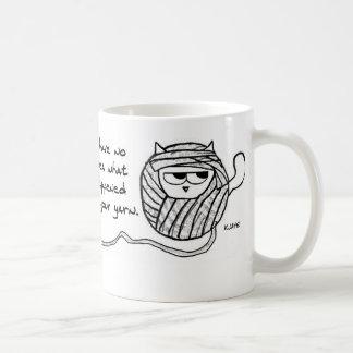 Angry Cat Likes Yarn Coffee Mug