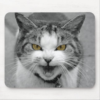Angry Cat Mouse Mat