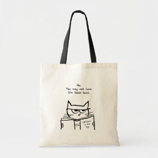 Angry Cat Steals Your Book - Funny Cat Tote Bag