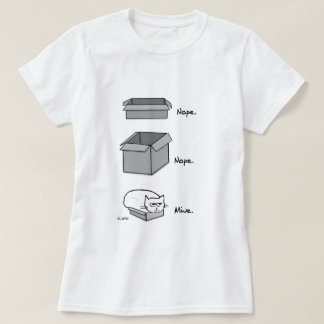 Angry Cat Totally Fits in this Box - Funny Cat Tee