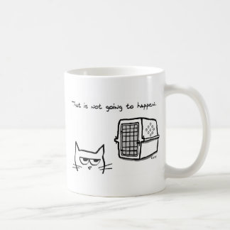 Angry Cat will NOT be going to the Vet Coffee Mug