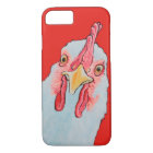 Angry Chicken in red iPhone 8/7 Case